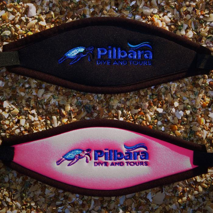 Pilbara Dive and Tours Velcro Mask Strap Pink